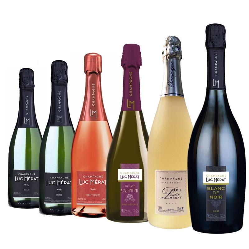 Pack découverte 6 bouteilles champagne Luc Mérat