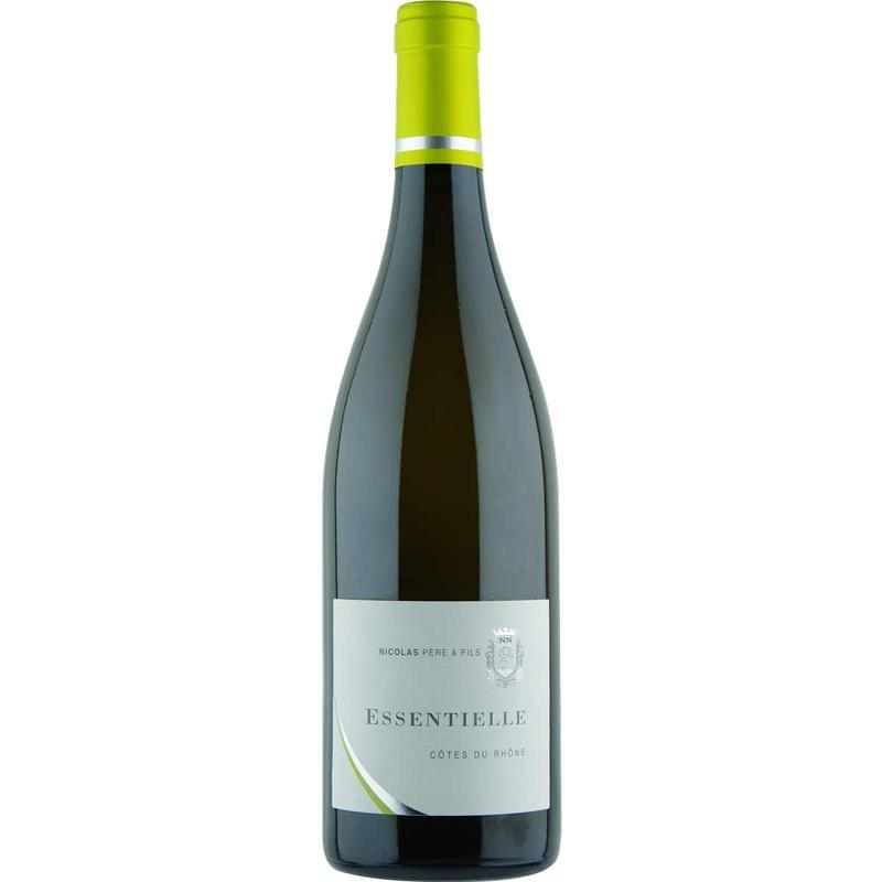 Vin blanc NICOLAS Père et fils cuvée Essentielle Côtes du Rhône 2015