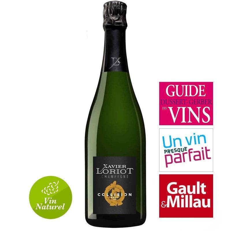 vente de champagne Xavier LORIOT Collision brut 100% pinot meunier