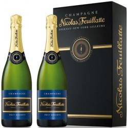 Coffret cadeau Nicolas FEUILLATTE 2 bouteilles Brut Réserve