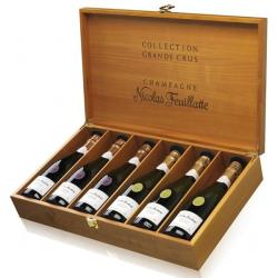 Coffret cadeau FEUILLATTE 6 Grand Crus (3 Chardonnay, 3 Pinot) et coffret bois
