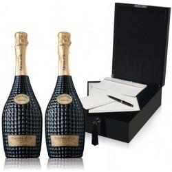 Coffret cadeau FEUILLATTE 1 Palmes d'Or Vintage et coffret écritoire Black Pearl