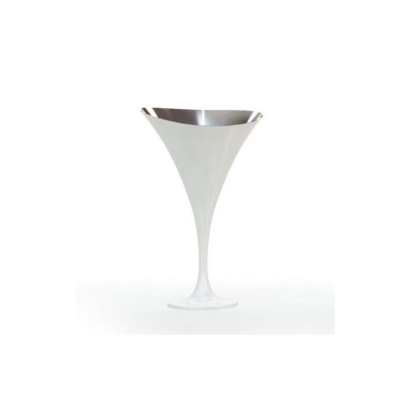 Vasque à champagne sur pied design blanc laqué Salon AROM