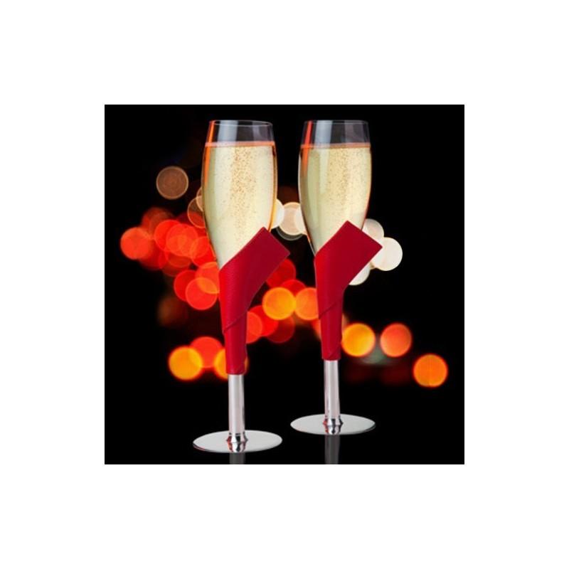 Coffret 2 flûtes à champagne Can Can