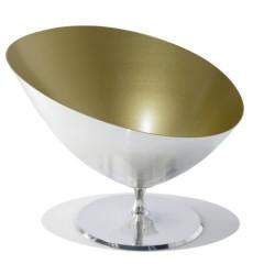 Vasque à champagne SYMBOL en étain et or