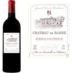 Bordeaux Supérieur Château DE BARRE 2012 - Vin rouge AOC