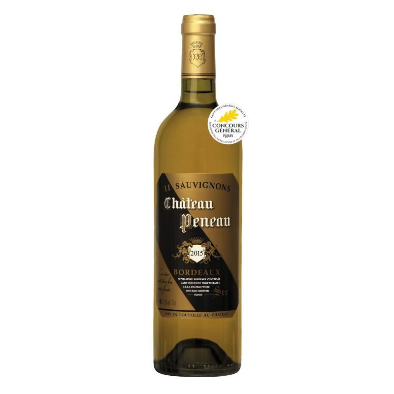 Bouteille vin blanc sec bordeaux Château PENEAU 2018