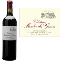 Côtes de Bourg Château MOULIN DES GRAVES 2012 - Vin Rouge AOC