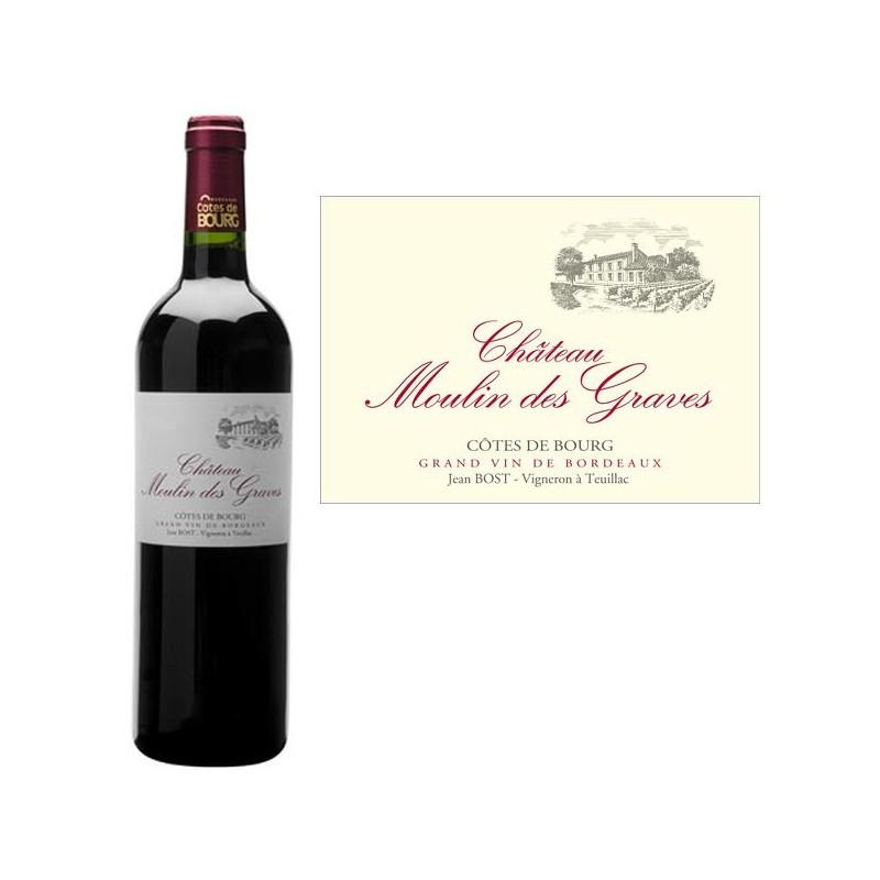 Vin Rouge AOC Côtes de Bourg Château MOULIN DES GRAVES 2006