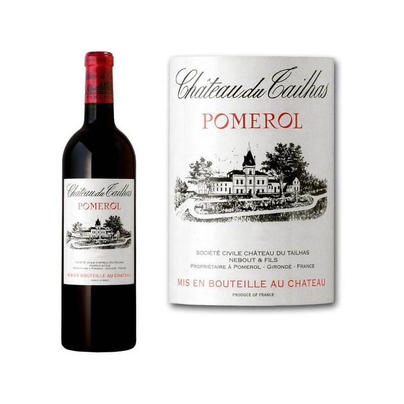 Vin Rouge AOC Pomerol Château DU TAILHAS 2001