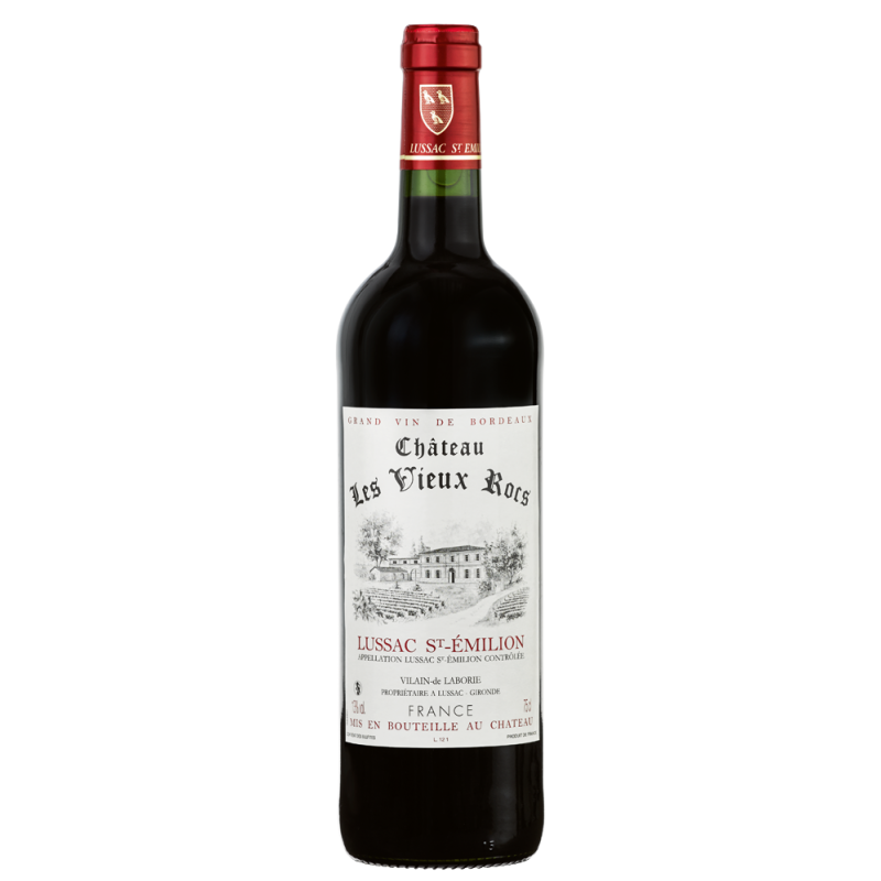 Lussac Saint-Emilion Château LES VIEUX ROCS 2015 - Vin Rouge AOC