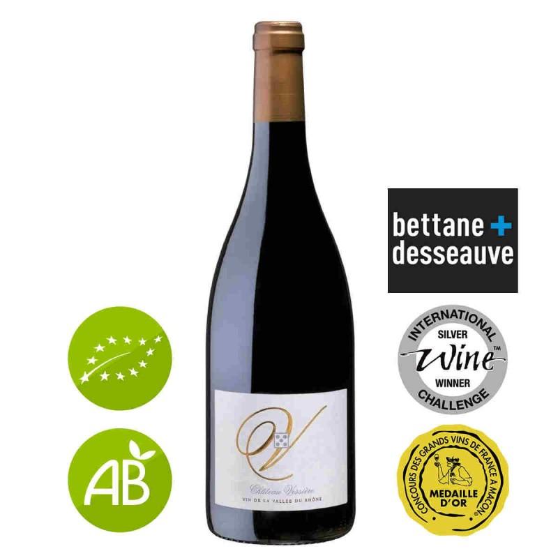 Vin rouge bio Château VESSIERE Costières-de-nîmes 2014