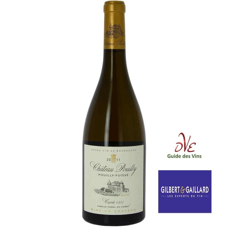 Vin blanc Pouilly-Fuissé Château POUILLY cuvée 1551 millésime 2011