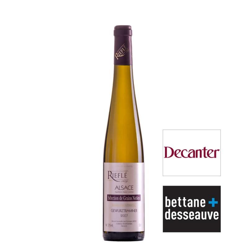 Vin blanc Gewurztraminer sélection grains nobles Domaine Rieflé 2007