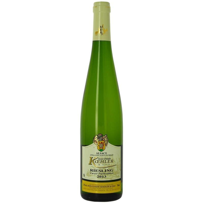 Vin blanc Alsace Riesling Domaine KOEHLER cuvée particulière 2013