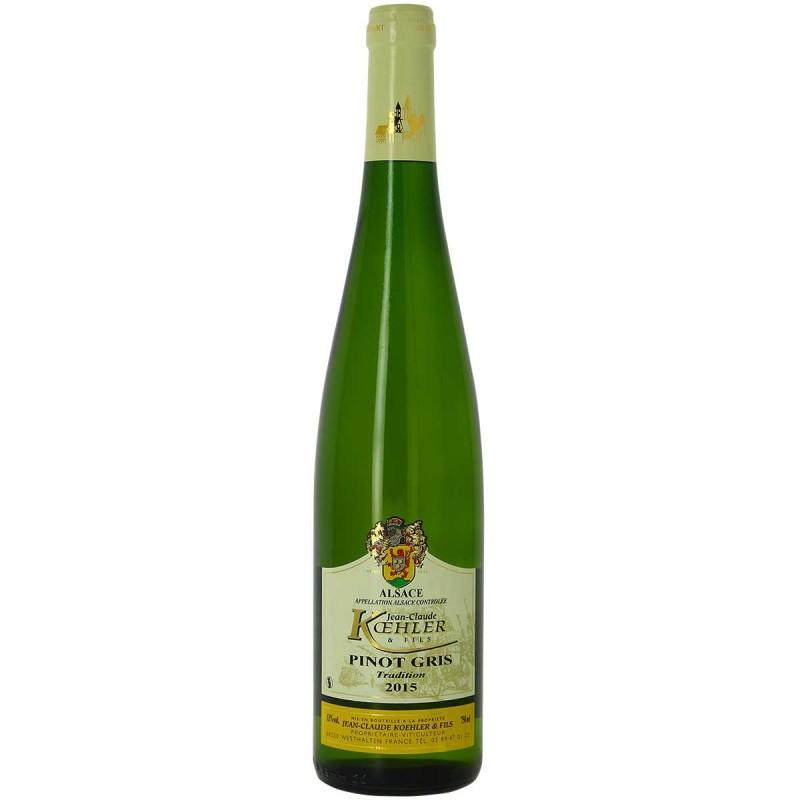 Vin blanc Alsace Pinot gris Domaine KOEHLER cuvée tradition 2015