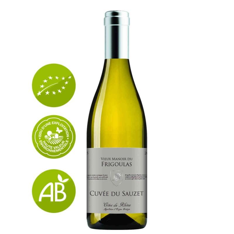 Vin blanc Côtes du Rhône Vieux manoir du Frigoulas Cuvée Sauzet 2016