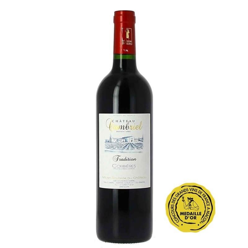 Vin rouge Corbières Château CAMBRIEL cuvée tradition 2016