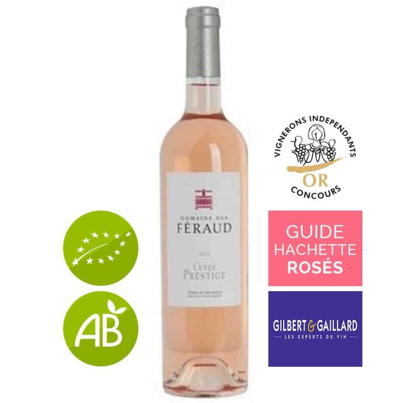 Vin rosé bio Côtes de Provence Domaine des Féraud cuvée prestige 2016
