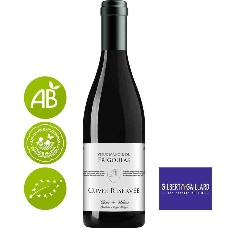 Vin rouge Côtes du Rhône Vieux manoir du Frigoulas cuvée Réservée 2016