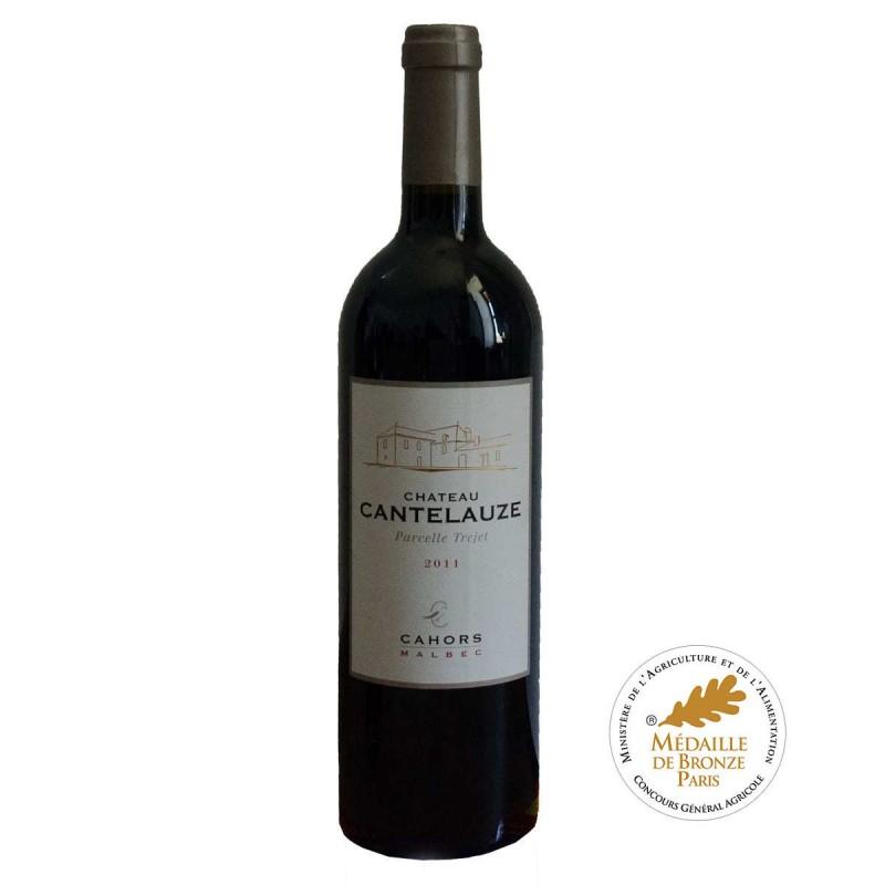 Vin rouge Cahors Château CANTELAUZE Parcelle Trejet 2011