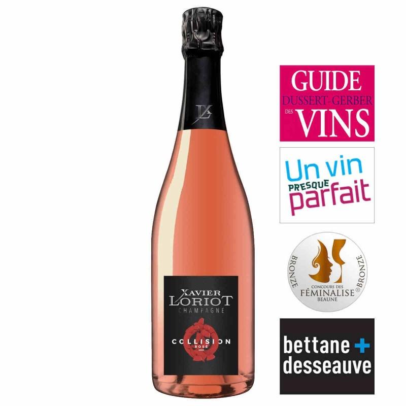 Champagne brut rosé Xavier LORIOT cuvée Collision