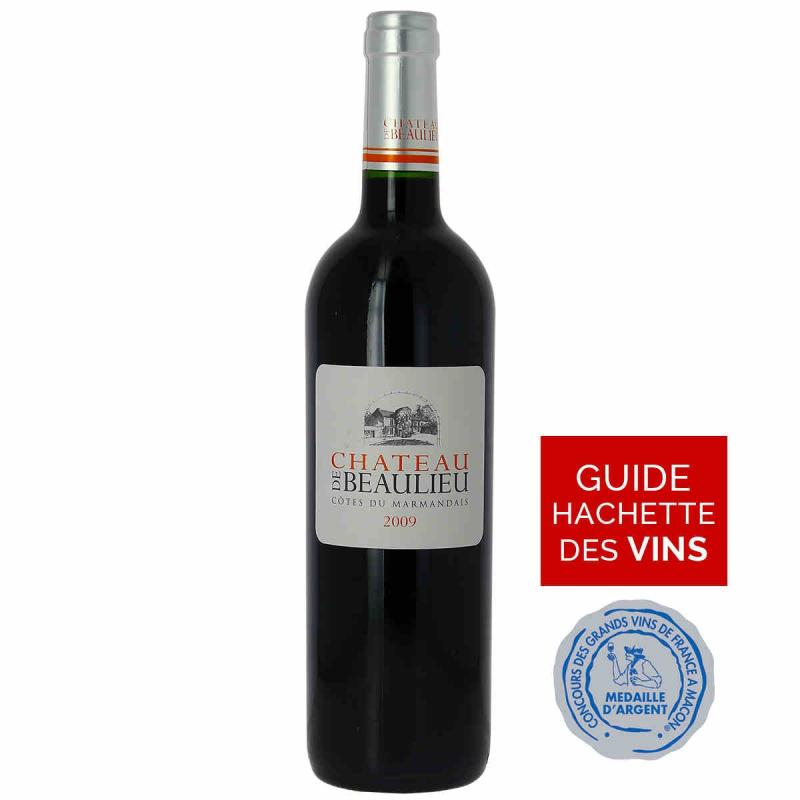 Vin rouge Chateau de Beaulieu Cotes du Marmandais 2009 75 cl