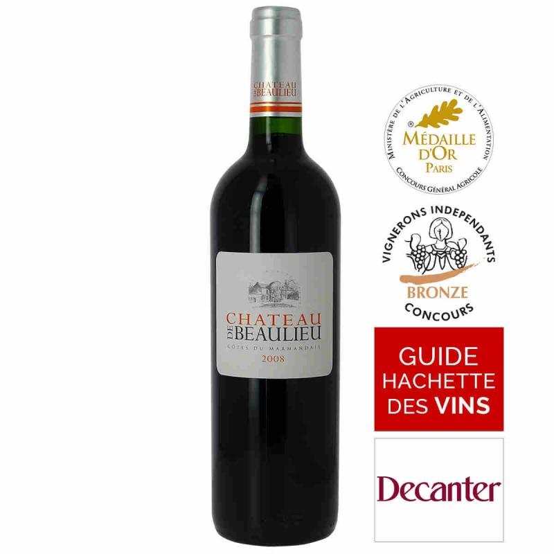 Vin rouge Château de Beaulieu Côtes du Marmandais 2008 75 cl