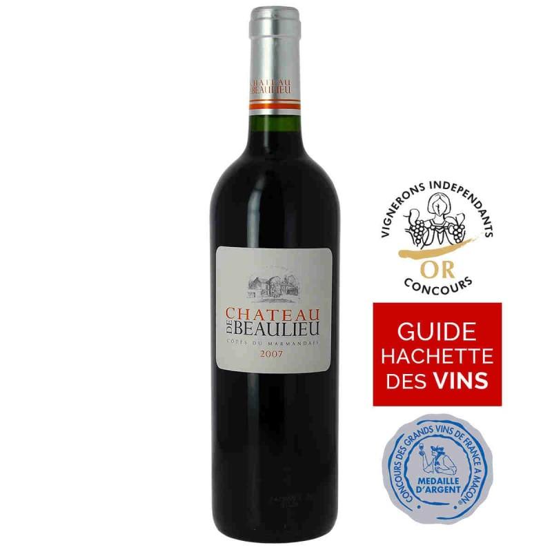 Vin rouge Château de Beaulieu Côtes du Marmandais 2007 75 cl