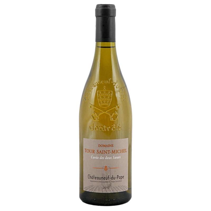Vin blanc Tour Saint Michel Les deux sœurs Châteauneuf-du-Pape 2016