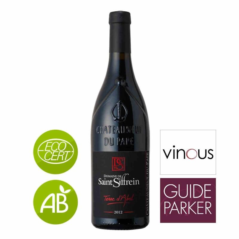 carton 6 bouteilles de vin rouge Saint Siffrein Terre d'Abel Châteauneuf-du-Pape 2012 75 cl