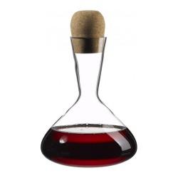 Carafe à vin classique avec bouchon liège et fond plat 1.5 L