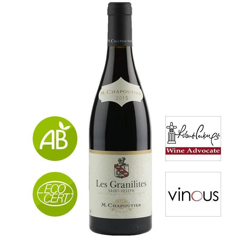 Bouteille vin rouge Saint-Joseph M. CHAPOUTIER les Granilites 2015