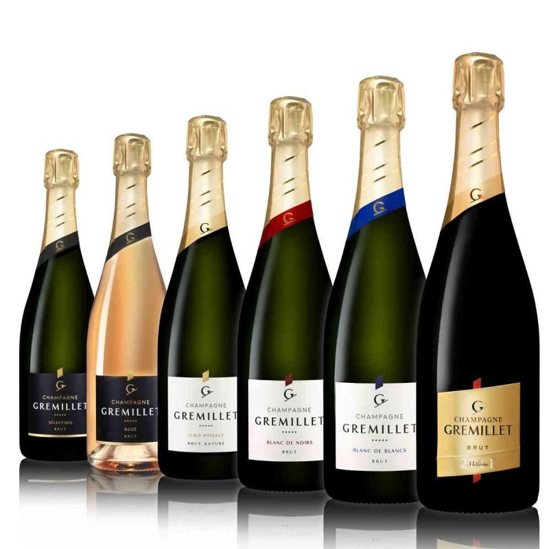 carton découverte champagne Gremillet 6 bouteilles gamme complète