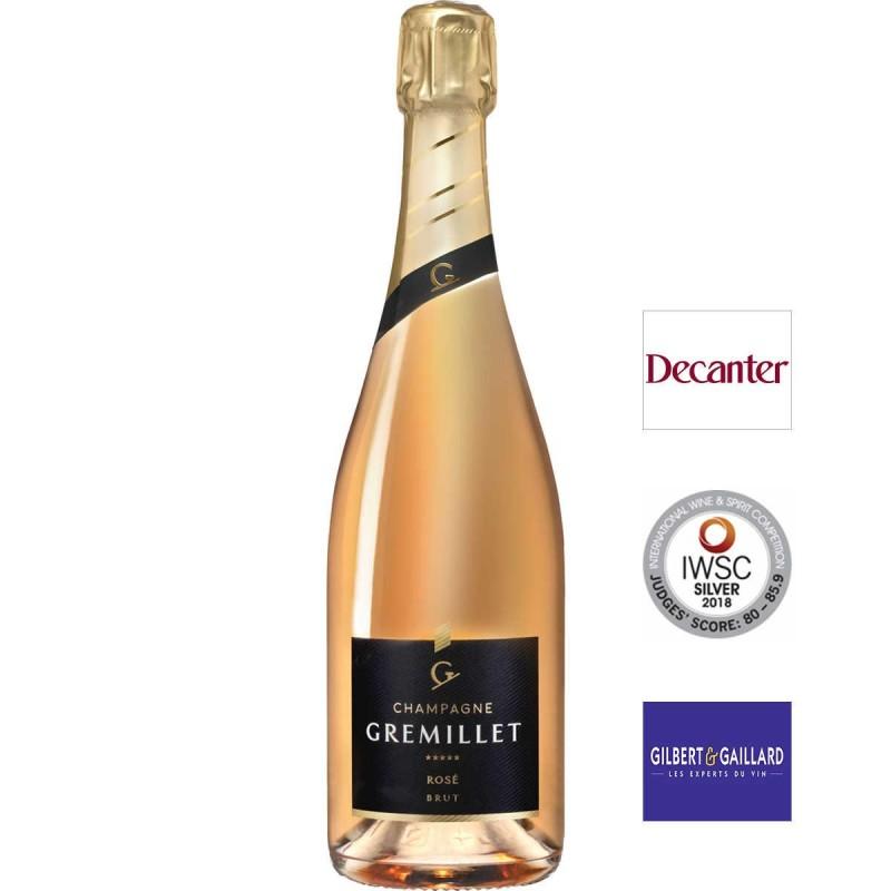 Bouteille champagne Gremillet rosé brut