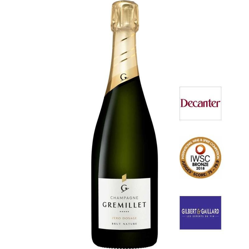 bouteille de champagne Gremillet Extra-Brut Zéro dosage Brut nature