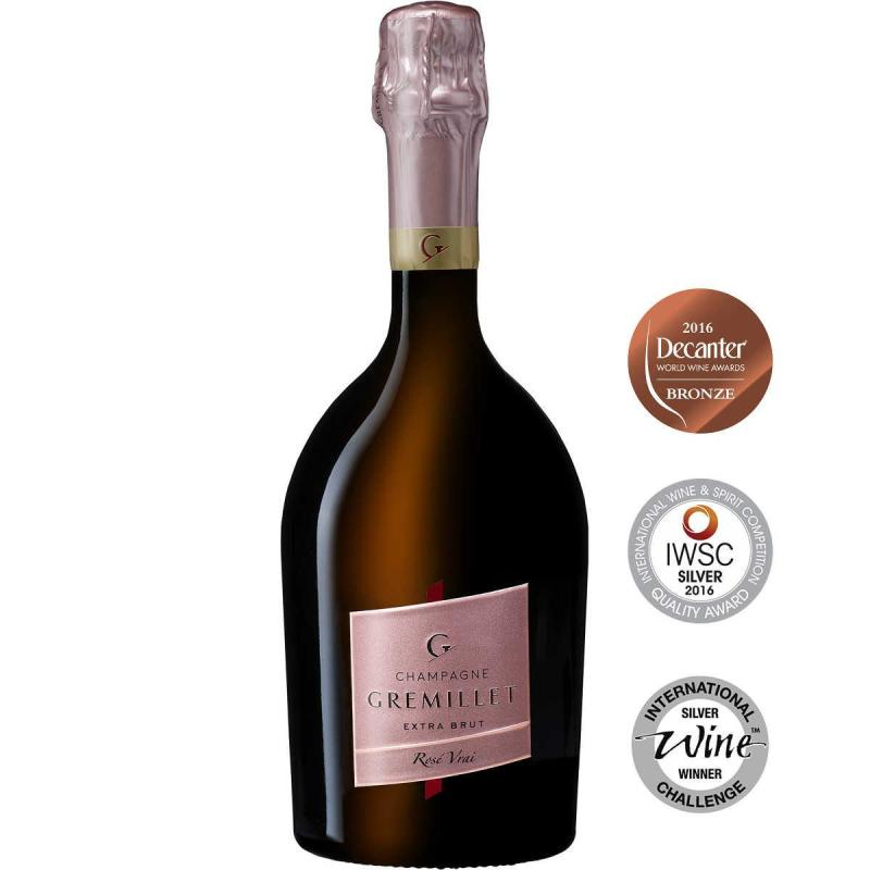 Bouteille champagne Gremillet extra-brut Rosé Vrai