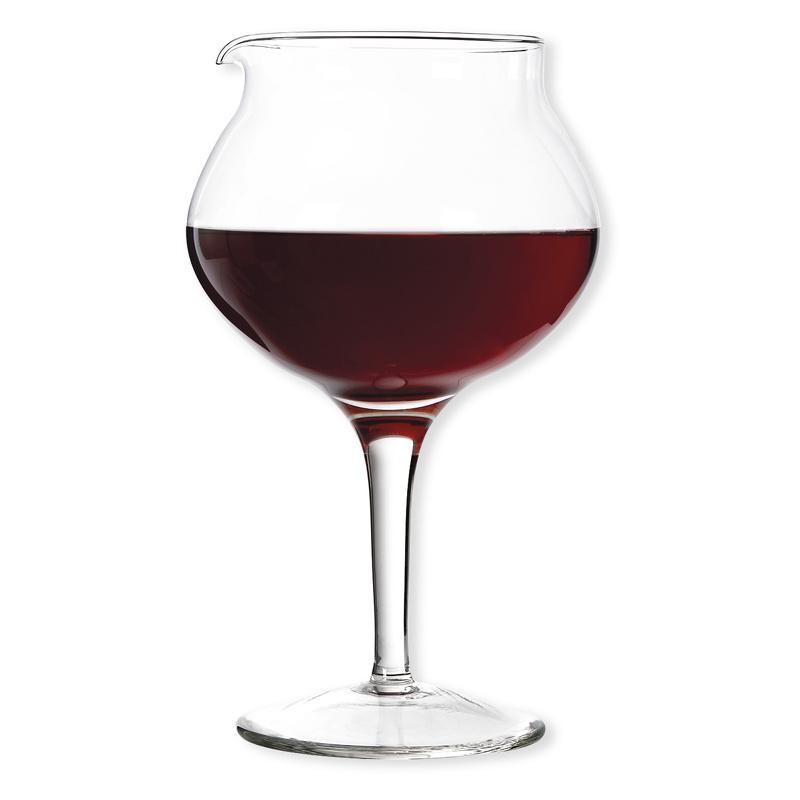 Bol décanteur sur pied en forme de verre à Bourgogne 1.5L