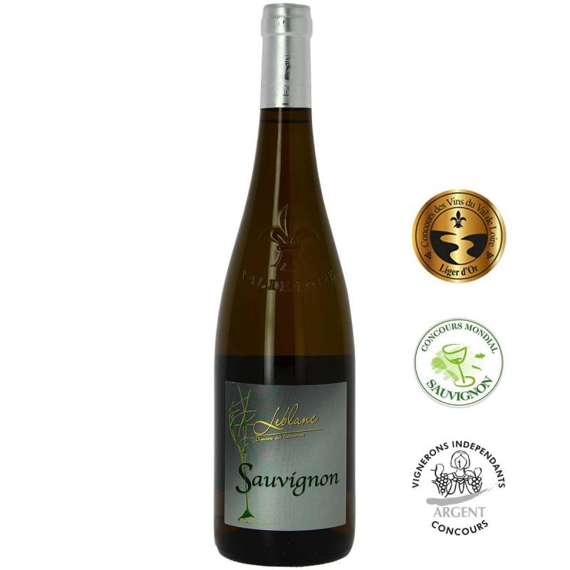 Bouteille vin blanc Domaine LEBLANC les CLOSSERONS Sauvignon Val de Loire 2018