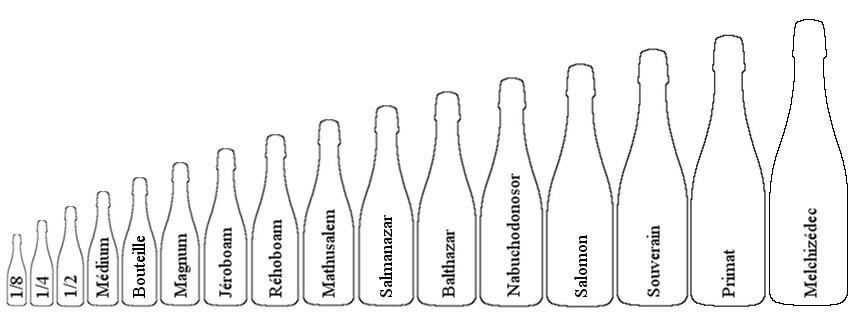 Les différents contenants de champagne