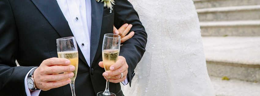 champagne pour les mariés